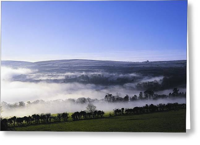 Foggy Day Greeting Cards - Co Antrim, Ireland Mist Over A Landscape Greeting Card by The Irish Image Collection