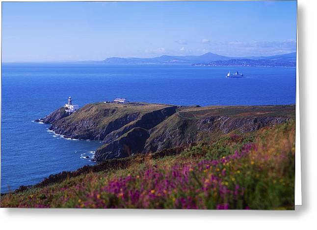 Safeguard Greeting Cards - Co Dublin, Howth Head, Baily Lighthouse Greeting Card by The Irish Image Collection