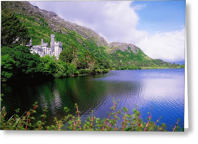 Co Galway, Ireland, Kylemore Abbey Greeting Card by The Irish Image Collection