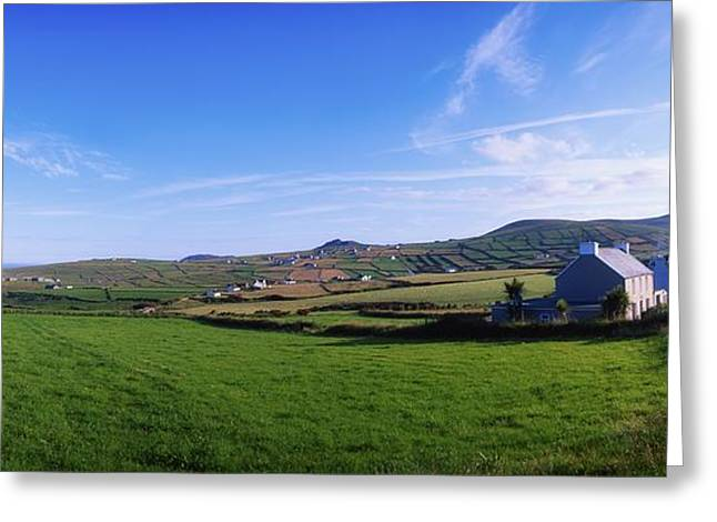 Residential Structure Greeting Cards - Co Kerry, Dingle Peninsula, Dunquin Greeting Card by The Irish Image Collection