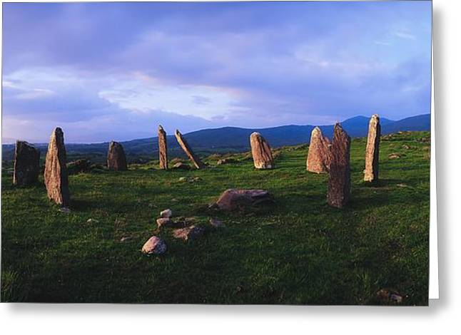 Collection Of Rocks Greeting Cards - Co Kerry, Ireland, Stone Circle Greeting Card by The Irish Image Collection