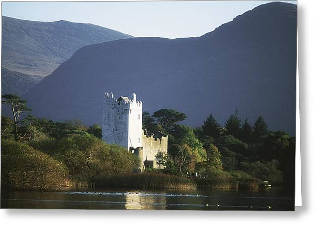 Castle In Valley Greeting Cards - Co Kerry, Killarney, Ross Castle Greeting Card by The Irish Image Collection