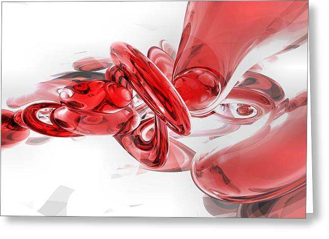 Red Blood Greeting Cards - Coagulation Abstract Greeting Card by Alexander Butler