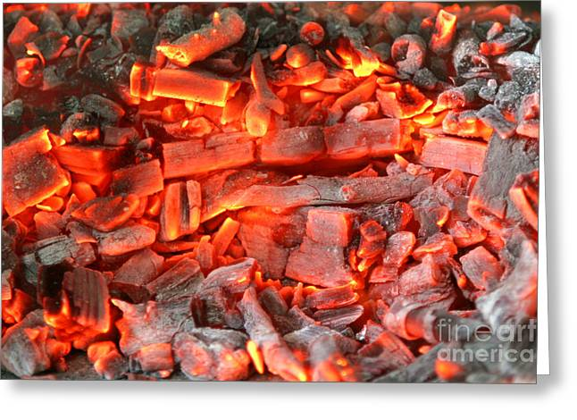 Best Sellers -  - Engulfing Greeting Cards - Coal Ash Greeting Card by Francisco Leitao