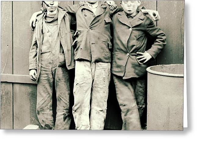 Coal Breaker Boys 1900 Greeting Card by Padre Art