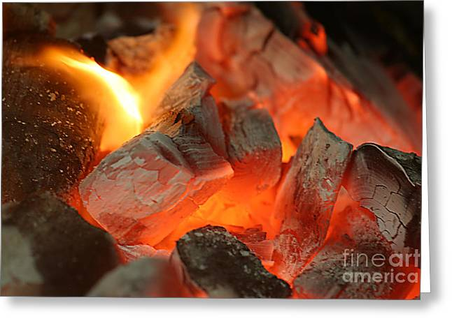 Best Sellers -  - Engulfing Greeting Cards - Coal Fire Greeting Card by Francisco Leitao