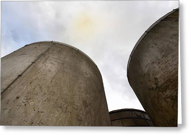 Most Photographs Greeting Cards - Coal-fired Power Station Chimney Greeting Card by Colin Cuthbert