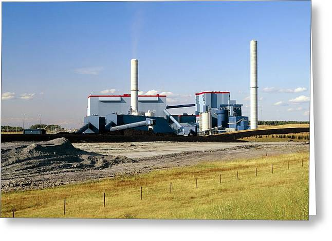 Burning Buildings Greeting Cards - Coal-fired Power Station Greeting Card by Martin Bond