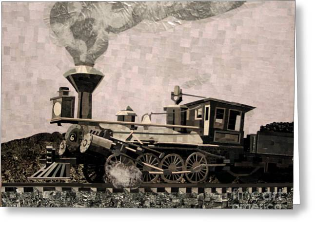 Coal Train to Kalamazoo Greeting Card by Kerri Ertman