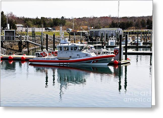 Coast Guard Greeting Card by Extrospection Art