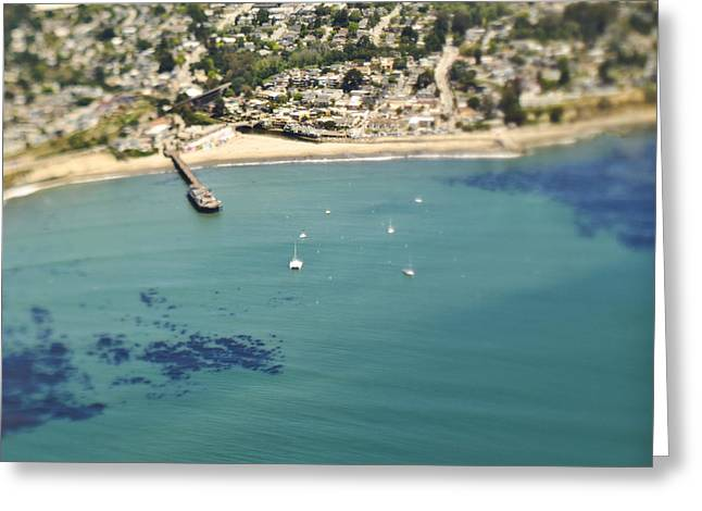 Santa Cruz Sailboat Greeting Cards - Coastal Community and Sailboats Greeting Card by Eddy Joaquim