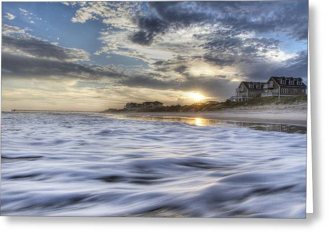 Blurred Motion Greeting Cards - Coastal Currents Greeting Card by Betsy C  Knapp