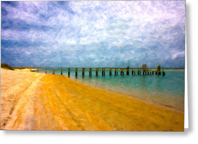 Topsail Island Greeting Cards - Coastal Dreamland Greeting Card by Betsy A  Cutler