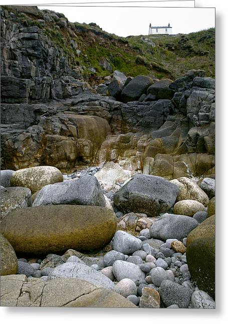 Cape Cornwall Greeting Cards - Coastal Erosion Greeting Card by Dr Keith Wheeler