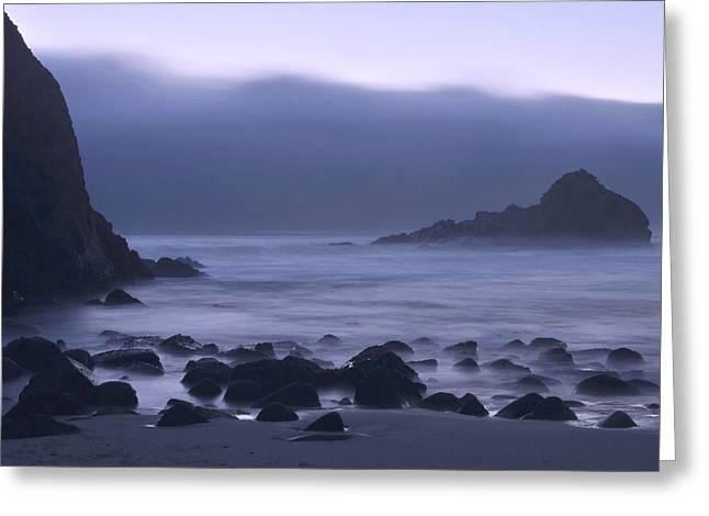 Big Sur Greeting Cards - Coastal Fog - Big Sur Greeting Card by Stephen  Vecchiotti