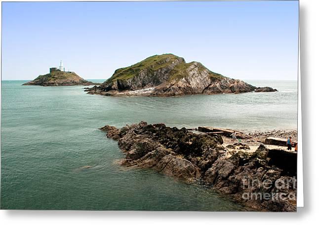 Edge Pyrography Greeting Cards - Coastal landscape panorama  Greeting Card by Sanyi Kumar