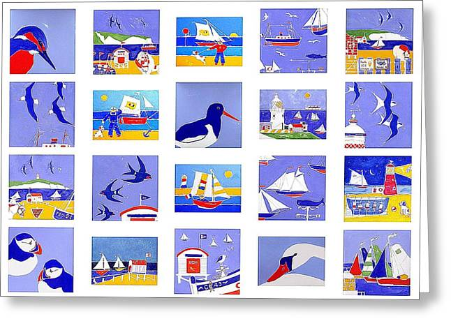 Weathervane Mixed Media Greeting Cards - Coastal Magic Greeting Card by Jacqueline Walden