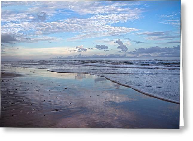 Coastal Reflections Greeting Card by Betsy C Knapp