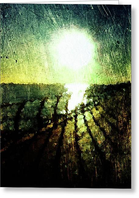 Oniric Greeting Cards - Coastal Sunset Greeting Card by Andrea Barbieri