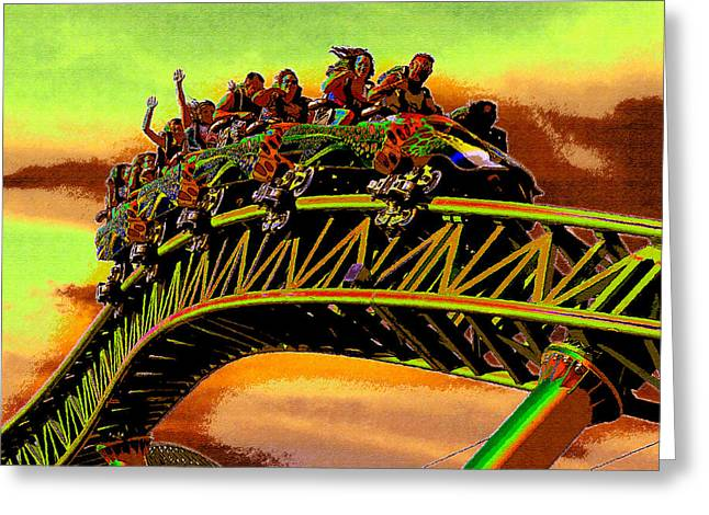 Family Vacation Greeting Cards - Coaster fun in the Florida sun Greeting Card by David Lee Thompson