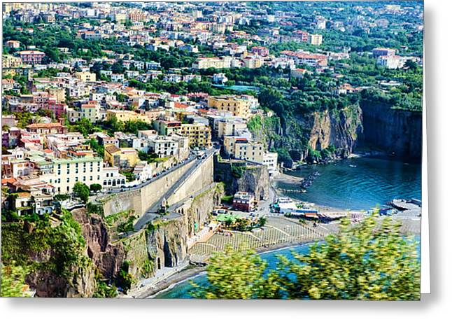 Southern Italy Greeting Cards - Coastline of Southern Italy Greeting Card by Jon Berghoff
