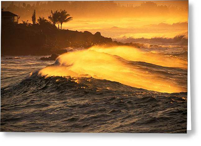 Vince Greeting Cards - Coastline Sunset Greeting Card by Vince Cavataio - Printscapes