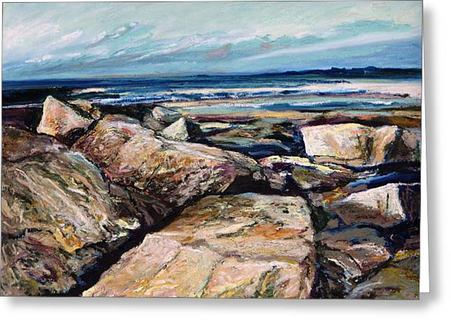 Maine Beach Pastels Greeting Cards - Coasts Edge Greeting Card by Richard Knox