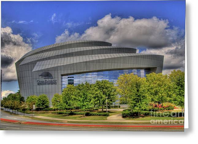 Photographers Conyers Greeting Cards - Cobb Energy Center Greeting Card by Corky Willis Atlanta Photography