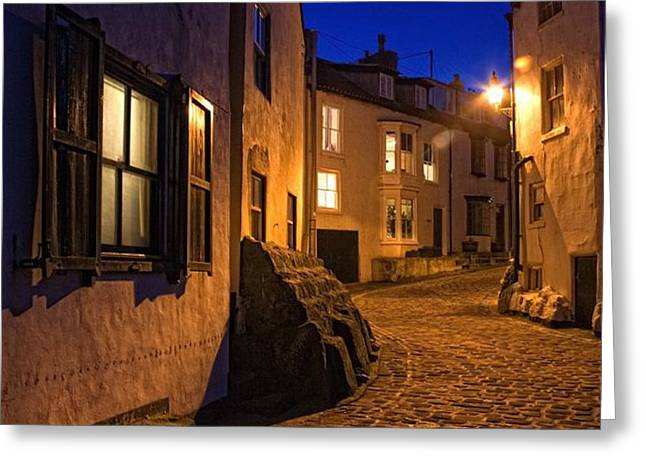 Cobblestone Road, North Yorkshire Greeting Card by John Short