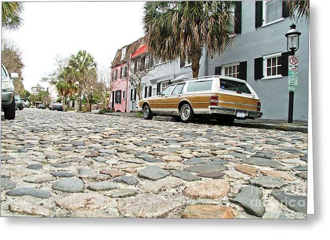 Station Wagon Greeting Cards - Cobblestone Greeting Card by Wendy Mogul