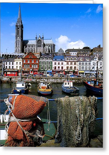 The Tourist Trade Greeting Cards - Cobh, Co Cork, Ireland, Cobh Cathedral Greeting Card by The Irish Image Collection
