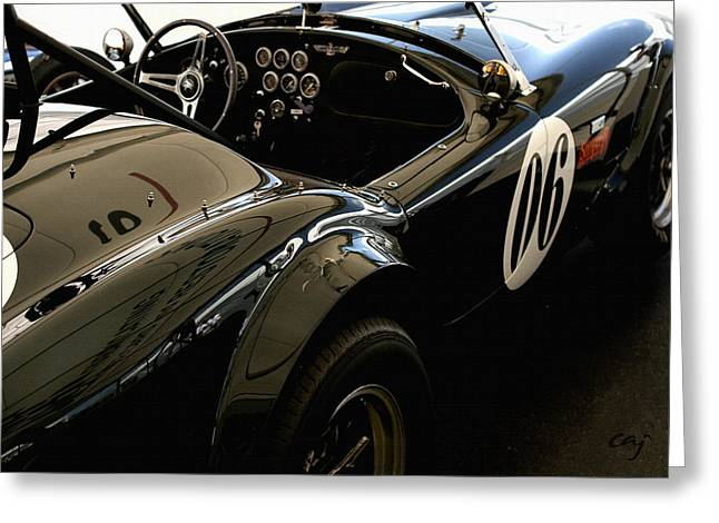 Cobra Poster Greeting Cards - Cobra 289 Reflections  Greeting Card by Curt Johnson