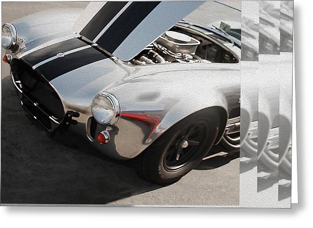 Cobra Poster Greeting Cards - Cobra Replica Sans Paint - METAL PRINT RECOMMENDED Greeting Card by Curt Johnson