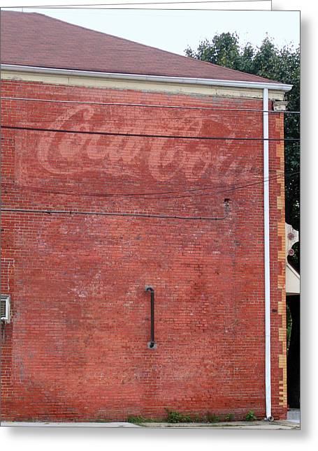 Coca Cola Faded Greeting Card by Denise Keegan Frawley