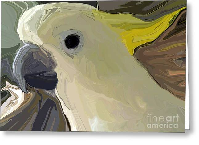 Cockatoo Two Greeting Card by Chris Butler