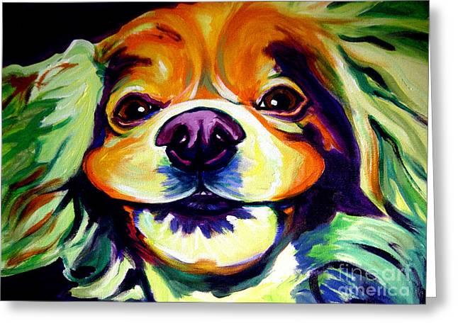 Cocker Spaniel Paintings Greeting Cards - Cocker Spaniel - Cheese Greeting Card by Alicia VanNoy Call