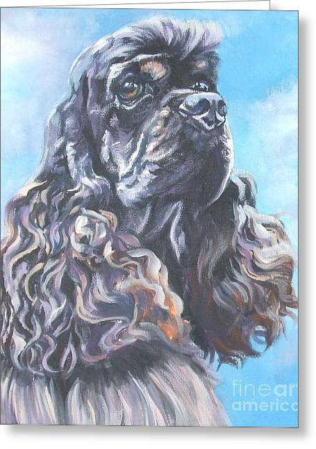 Recently Sold -  - Puppies Paintings Greeting Cards - Cocker Spaniel 2 Greeting Card by L A Shepard