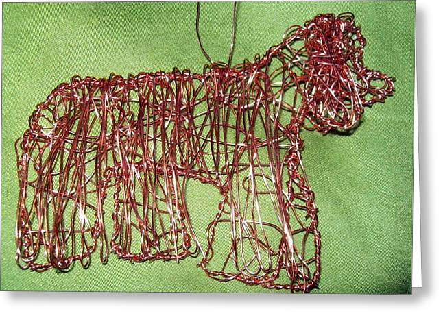Canine Sculptures Greeting Cards - Cocker Spaniel Greeting Card by Charlene White