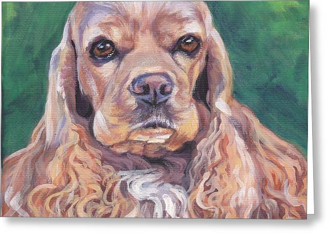Cocker spaniel Greeting Card by Lee Ann Shepard