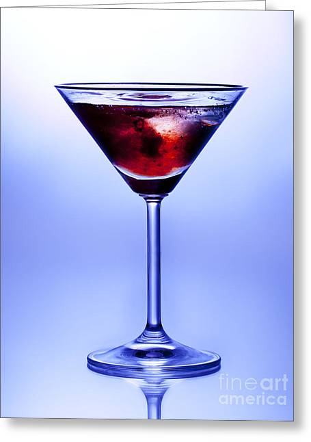 Gin Greeting Cards - Cocktail Greeting Card by Jane Rix