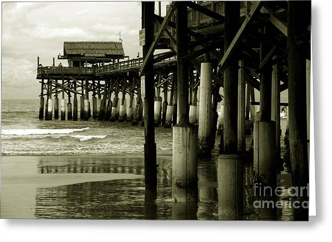 Florida House Greeting Cards - Cocoa Beach FL Greeting Card by Susanne Van Hulst