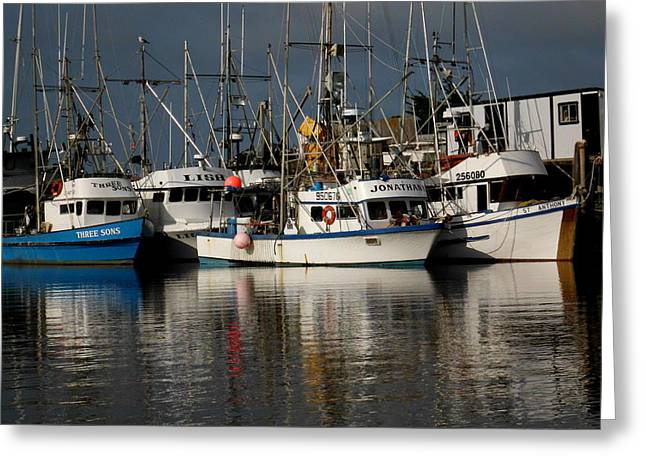 Moss Landing Boats Greeting Cards - Cod boats Greeting Card by Jim Salisbury