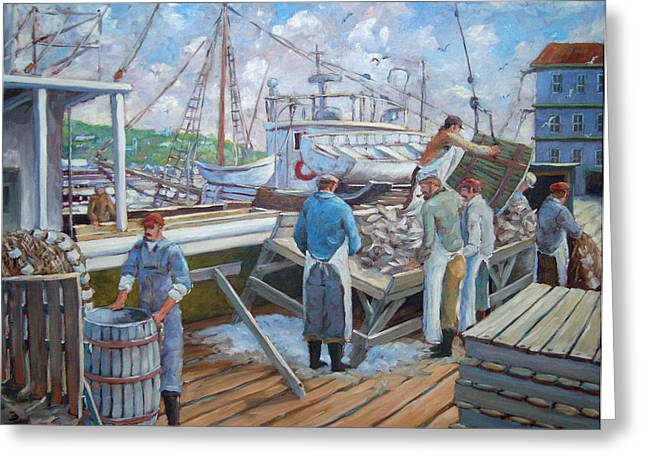 Nature Scene Paintings Greeting Cards - Cod Memories Greeting Card by Richard T Pranke