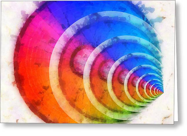Full Spectrum Greeting Cards - Code Of Colors 8 Greeting Card by Angelina Vick