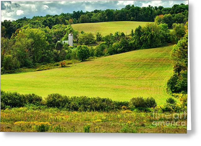 Southwick Greeting Cards - Coes Hill Road Greeting Card by HD Connelly