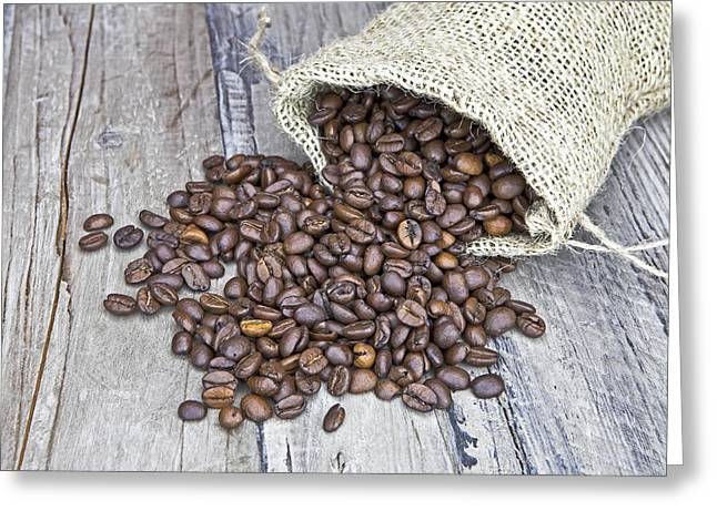 Coffee Drinking Greeting Cards - Coffee beans Greeting Card by Joana Kruse