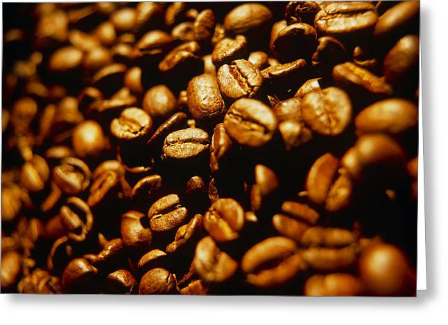 Coffee Drinking Greeting Cards - Coffee Beans Greeting Card by Tek Image