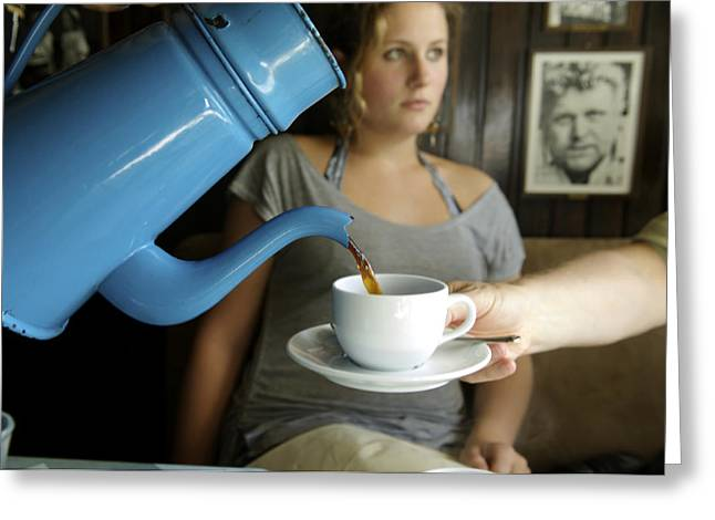 20-25 Years Greeting Cards - Coffee being served in Greeting Card by Sisse Brimberg & Cotton Coulson, KEENPRESS
