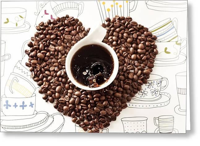 Coffee Break Greeting Card by Ivan Vukelic