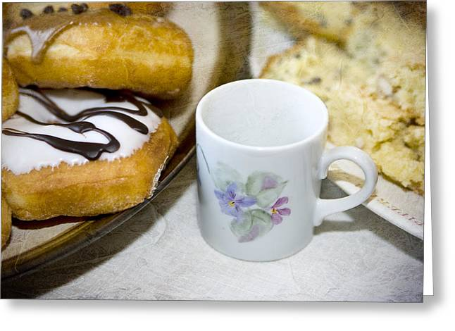 Frosting Digital Greeting Cards - Coffee Break Greeting Card by Mary Timman